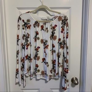 Cloud Chaser white floral swing top